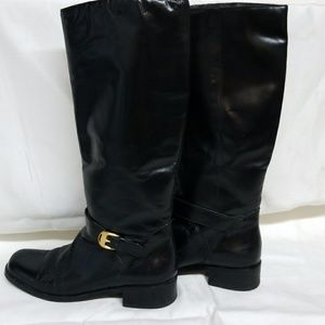 Etienne Aigner Leather Riding Boots